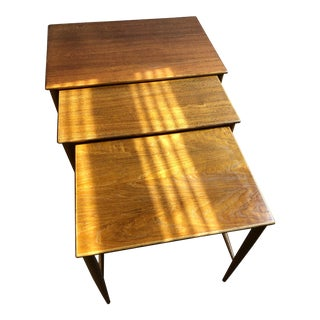 1960s Mid-Century Modern Teak Nesting Tables - Set of 3 For Sale