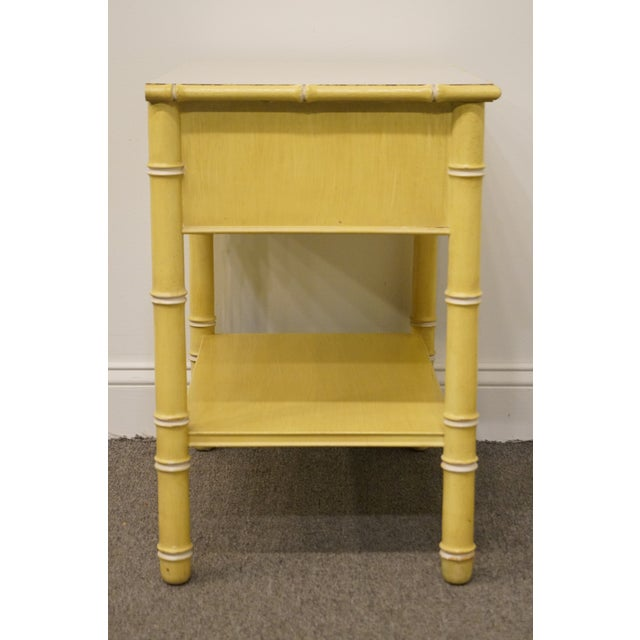 Vintage Thomasville Furniture Allegro Collection Asian Faux Bamboo Nightstand For Sale - Image 9 of 11