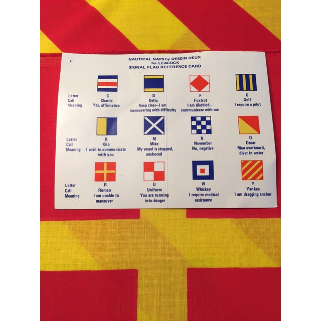 Nautical 1950's Nautical Signal Flag Cocktail Napkins - Set of 12 For Sale - Image 3 of 5