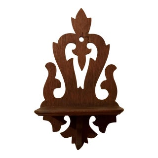 Victorian Bracket Design Wooden Decorative Wall Shelf