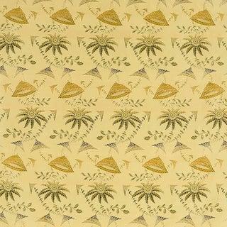 Sample, Suzanne Tucker Home Brighton Bizarre Silk Satin Brocade in Fawn For Sale