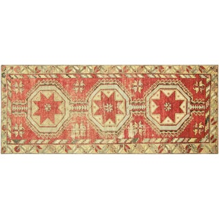 "Vintage Anatolian Oushak Runner - 4'5"" x 10'11"""