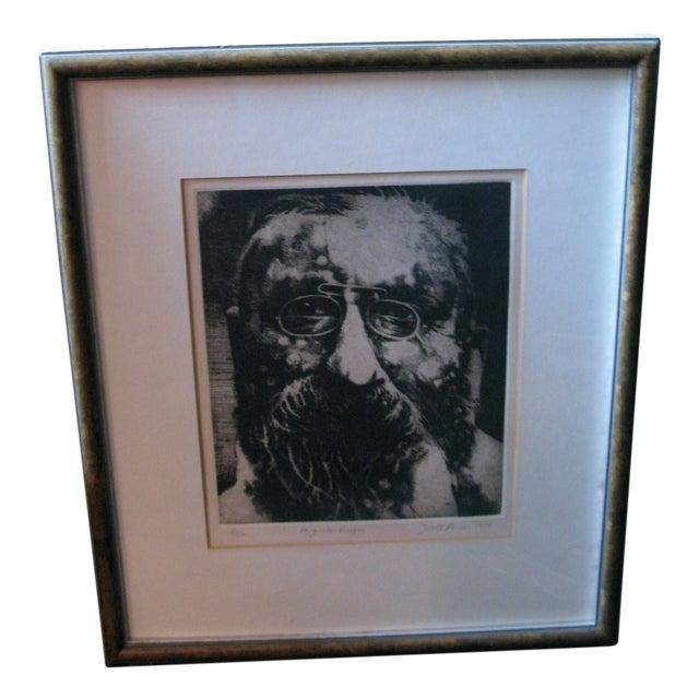 1976 Original Scott Prior Etching of Rodin - Image 9 of 9