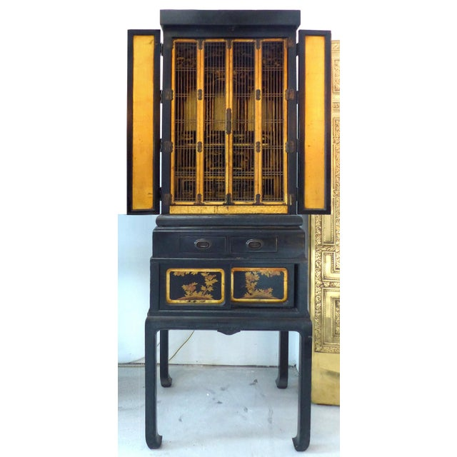 Black Antique Monumental Japanese Buddhist Temple on Stand For Sale - Image 8 of 8