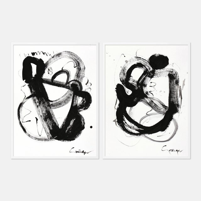 Black and White Gallery Wall, Set of 6 For Sale - Image 9 of 10