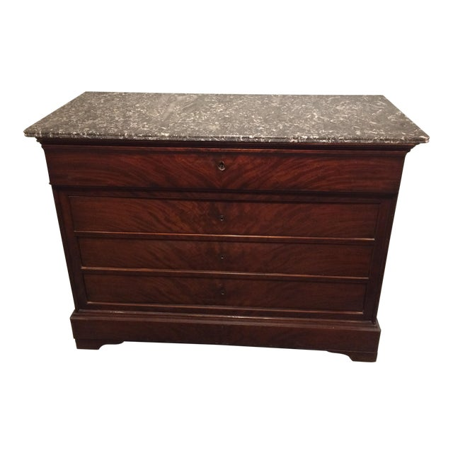 Louis Philippe Three Drawer Desk Commode For Sale