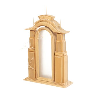 Surrealist Architectural Wood Sculpture For Sale
