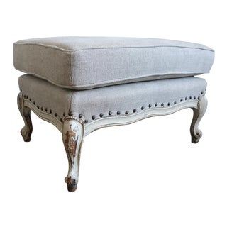 French Louis XV Style Painted Ottoman