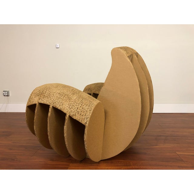 Paper Rocking Lounge Chair Made Entirely of Cardboard For Sale - Image 7 of 13