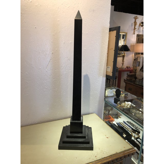 Inlaid Stone Obelisk For Sale - Image 4 of 13