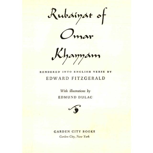 Rubaiyat of Omar Khayam by Edward Fitzgerald. Illustrated by Edmund Dulac. Garden City, NY: Garden City Books, 1952. 191...
