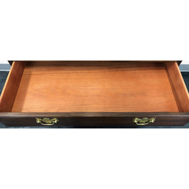 Gold Kittinger Solid Mahogany Four Drawer Chippendale Bachelor Chest For Sale - Image 8 of 12