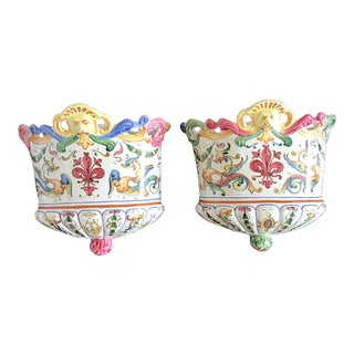Fratelli Fanciullacci Italian Wall Planters - a Pair For Sale