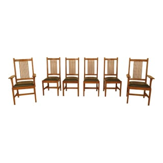 Stickley Mission Oak Dining Room Chairs - Set of 6
