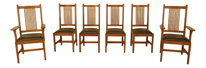 Stickley Mission Oak Dining Room Chairs   Set Of 6