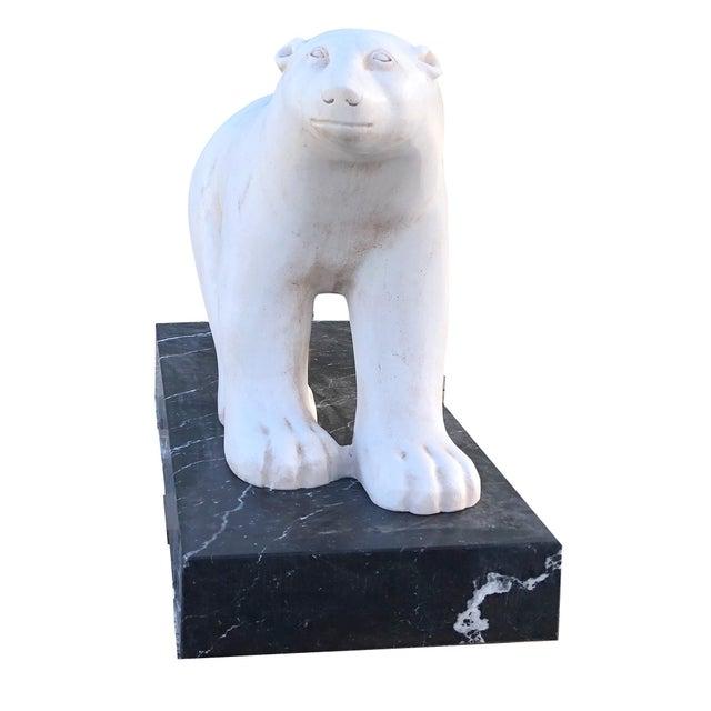 Art Deco 20th Century Polar Bear After Francois Pompon For Sale - Image 3 of 7