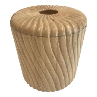 Vintage Georges Briard Blonde Wood Ice Bucket