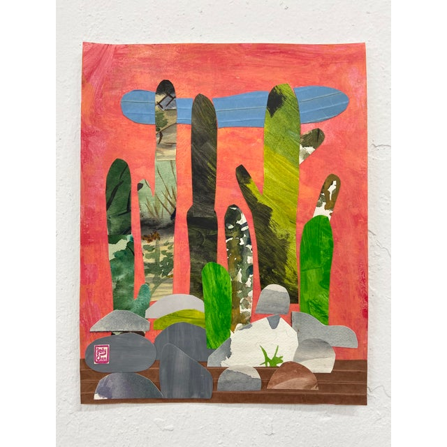 Jelly Chen Contemporary Collage, Rock Cactus For Sale - Image 4 of 4