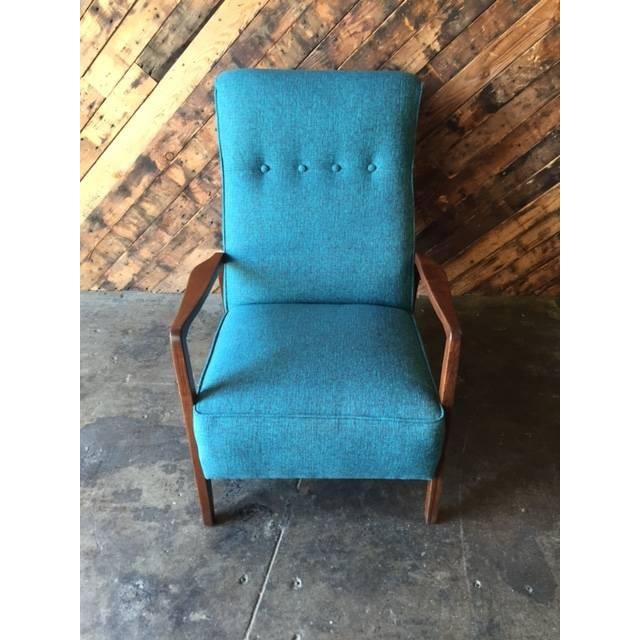 Mid-Century Sculpted Reupholstered Chair - Image 3 of 6