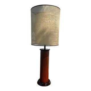 Mid-Century Gruvwood Table Lamp