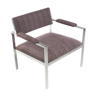 1960s Vintage Harvey Probber-Style Aluminum Lounge Chair For Sale