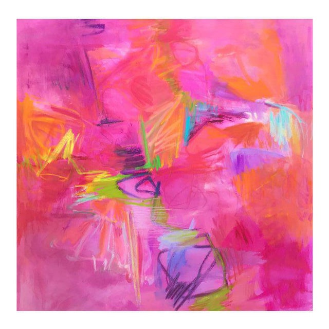 """Stunning """"Vegas Valentine"""" Large Abstract Painting by Trixie Pitts - Image 1 of 6"""