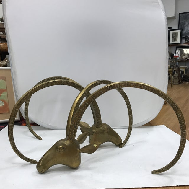 Brass Ibex Head Coffee Table Base - A Pair - Image 2 of 9