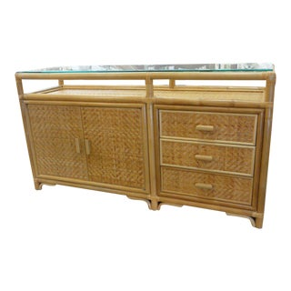 Rattan Woven Wrapped Sideboard