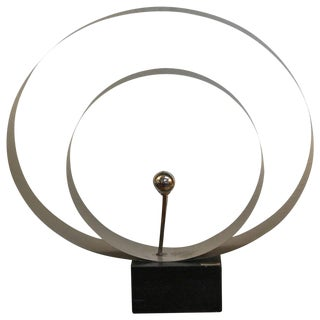 David Wolfe Steel Circular Sculpture For Sale
