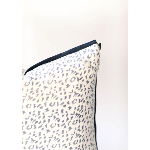 "Asian Dotty Block Print Pillow - 26x26"" For Sale - Image 3 of 4"