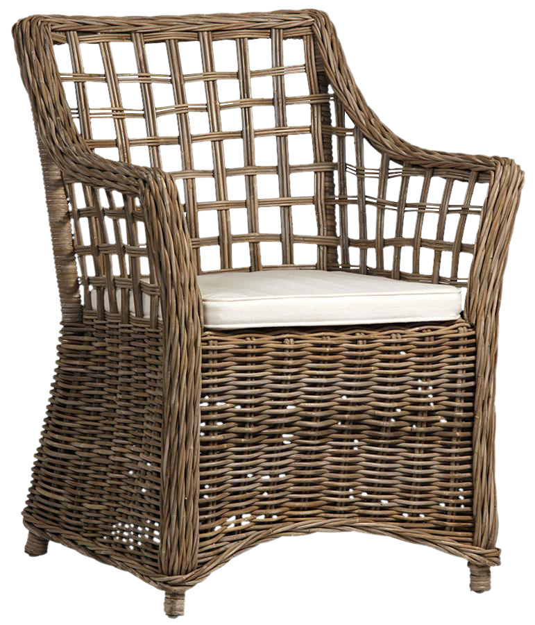 Wicker Lattice Dining Chair
