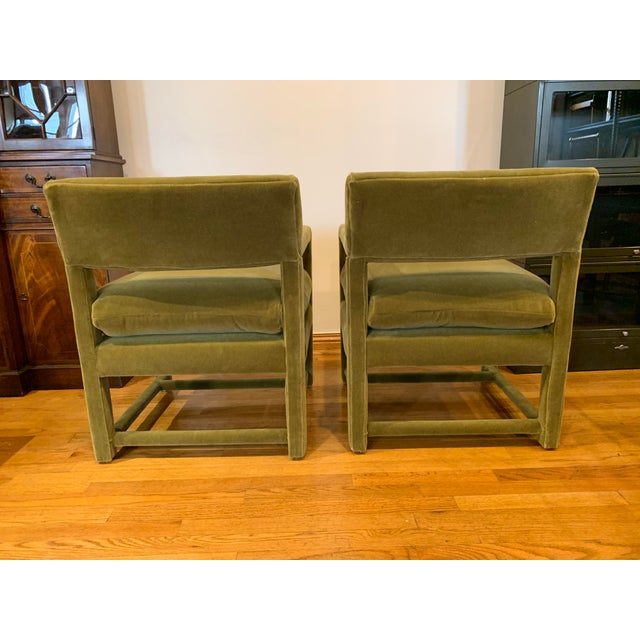 Milo Baughman Late 20th Century Baughman Style Armchairs- A Pair For Sale - Image 4 of 9