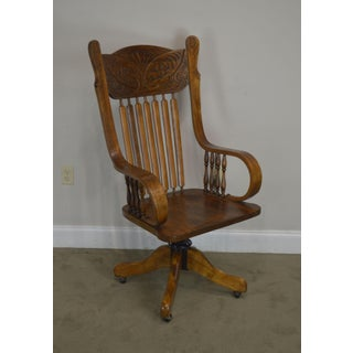 Antique Victorian Press Back Swivel Office Chair Preview