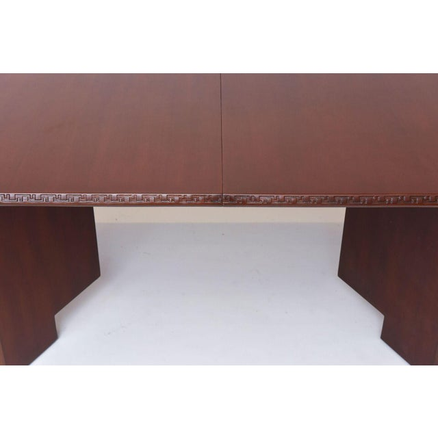 Frank Lloyd Wright Mahogany Extension Dining Table For Sale In Miami - Image 6 of 9
