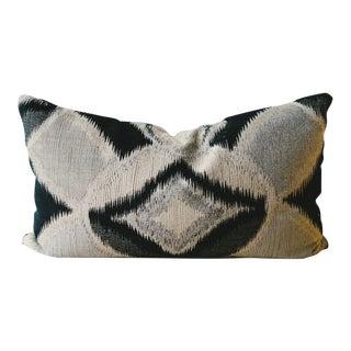 Ikat Lumbar Bolster Pillow