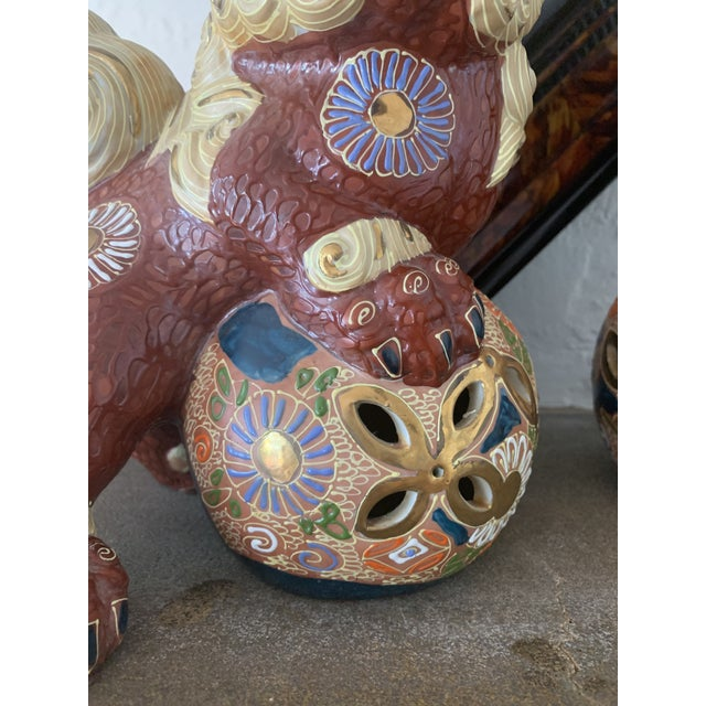 Vintage Asian Antique Foo Dogs - a Pair For Sale In Jacksonville, FL - Image 6 of 10