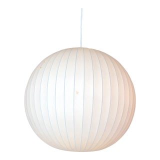 1960s Mid-Century George Nelson for Howard Miller Bubble Globe Pendant Light For Sale