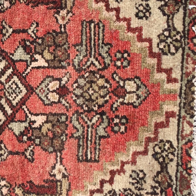 Vintage Hamadan Persian Rug -1′10″ × 2′4″ - Image 5 of 8