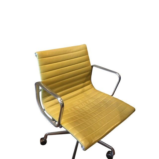 Herman Miller Eames Leather Desk Chair - Image 2 of 3