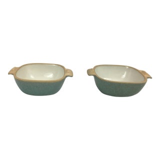 Glidden Matrix Turquoise Small Casseroles - A Pair