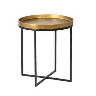 Brass Finish Tray Table Small For Sale