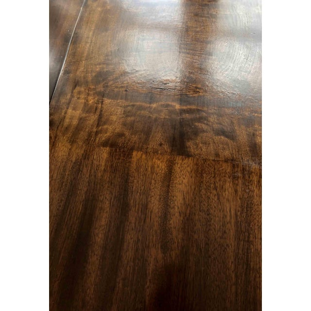 1990s Contemporary Walnut and Burl Wood 3 Leaf Extension Dining Table For Sale In Chicago - Image 6 of 13