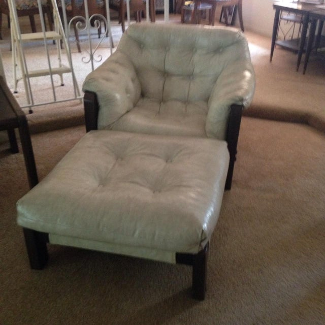 Mid-Century Sling Chairs & Ottoman - Set of 3 - Image 3 of 5