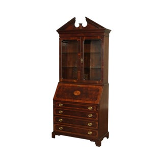Hekman Copley Place Chippendale Style Mahogany Inlaid Secretary Desk For Sale