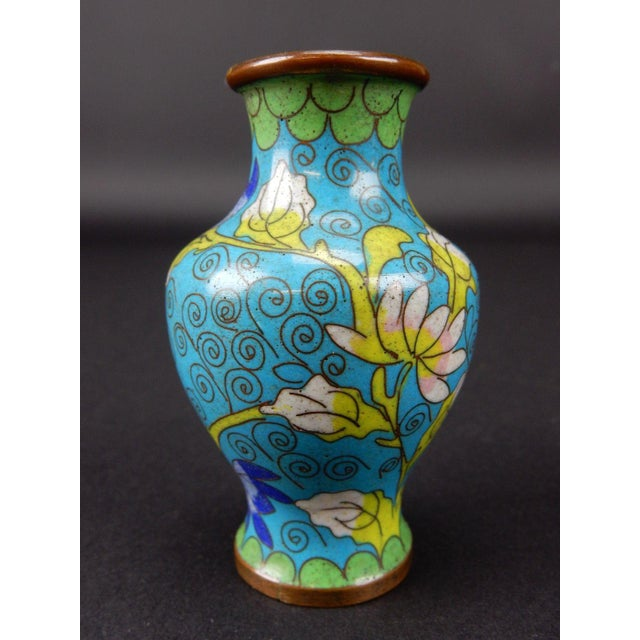Antique Chinese Cloisonne Temple Vase For Sale - Image 4 of 11