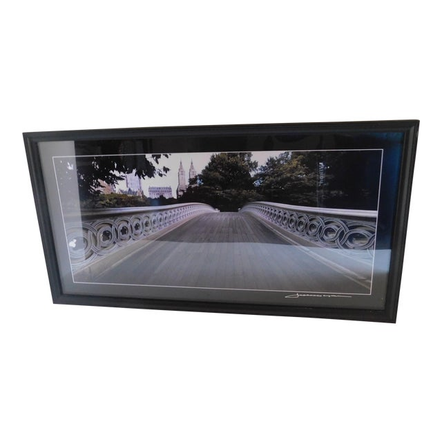 Central Park Bridge Black and White Print For Sale