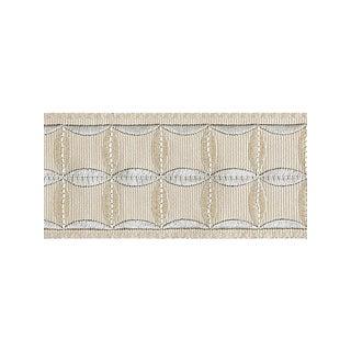 Scalamandre Fiori Embroidered Tape, Flax For Sale