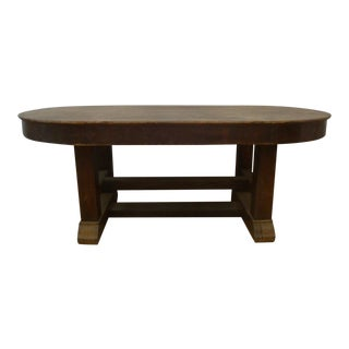 Mission Oak Library Table Desk or Dining Table Arts & Crafts For Sale