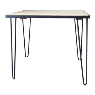 1970s Vintage Hairpin Leg Side Table For Sale
