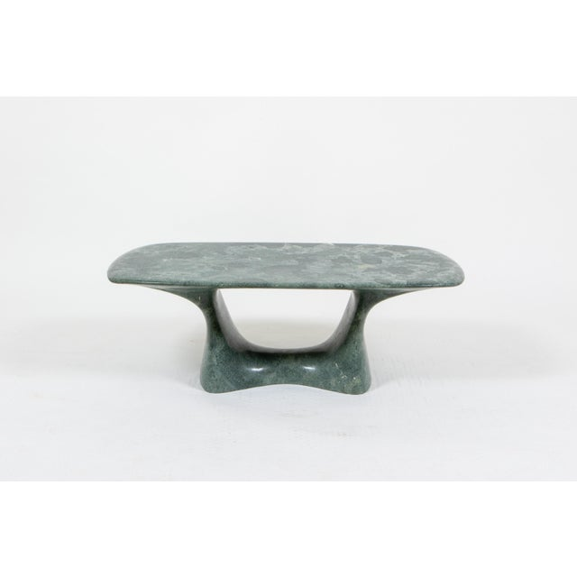 2010s Kim Hyun Joo Green Weathering Low Marble Table For Sale - Image 5 of 5
